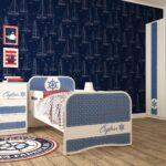 детская морская мебель синяя стена