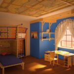 детская морская мебель желтая