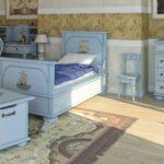 детская морская мебель светло-голубая
