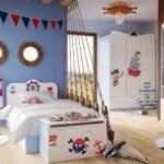 детская морская мебель с канатами