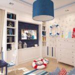 детская морская мебель синяя лампа