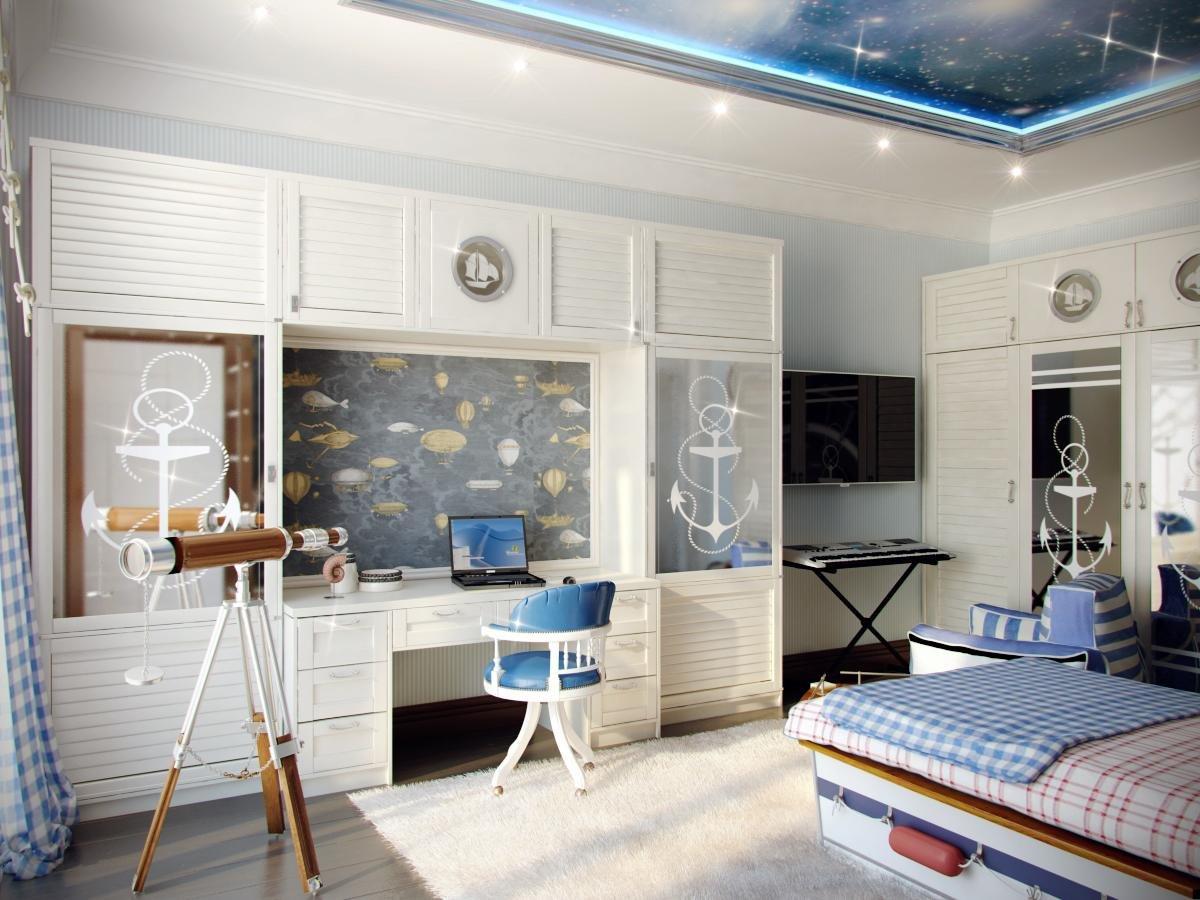 мебель с морскими принтами