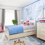 детская морская мебель голубое покрывало