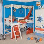 детская морская мебель голубая