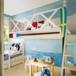 детская морская мебель двухэтажная