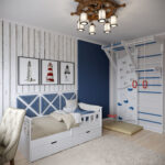 детская морская мебель диван