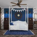 детская морская мебель большая кровать