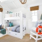 детская морская мебель двухъярусная