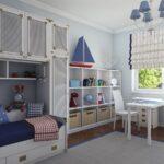 детская морская мебель белая