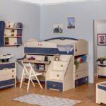 детская морская мебель кровать-стол