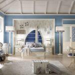 детская морская мебель белая с синим