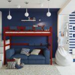 детская морская мебель красная с синим