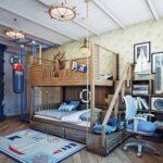 детская морская мебель бежевая
