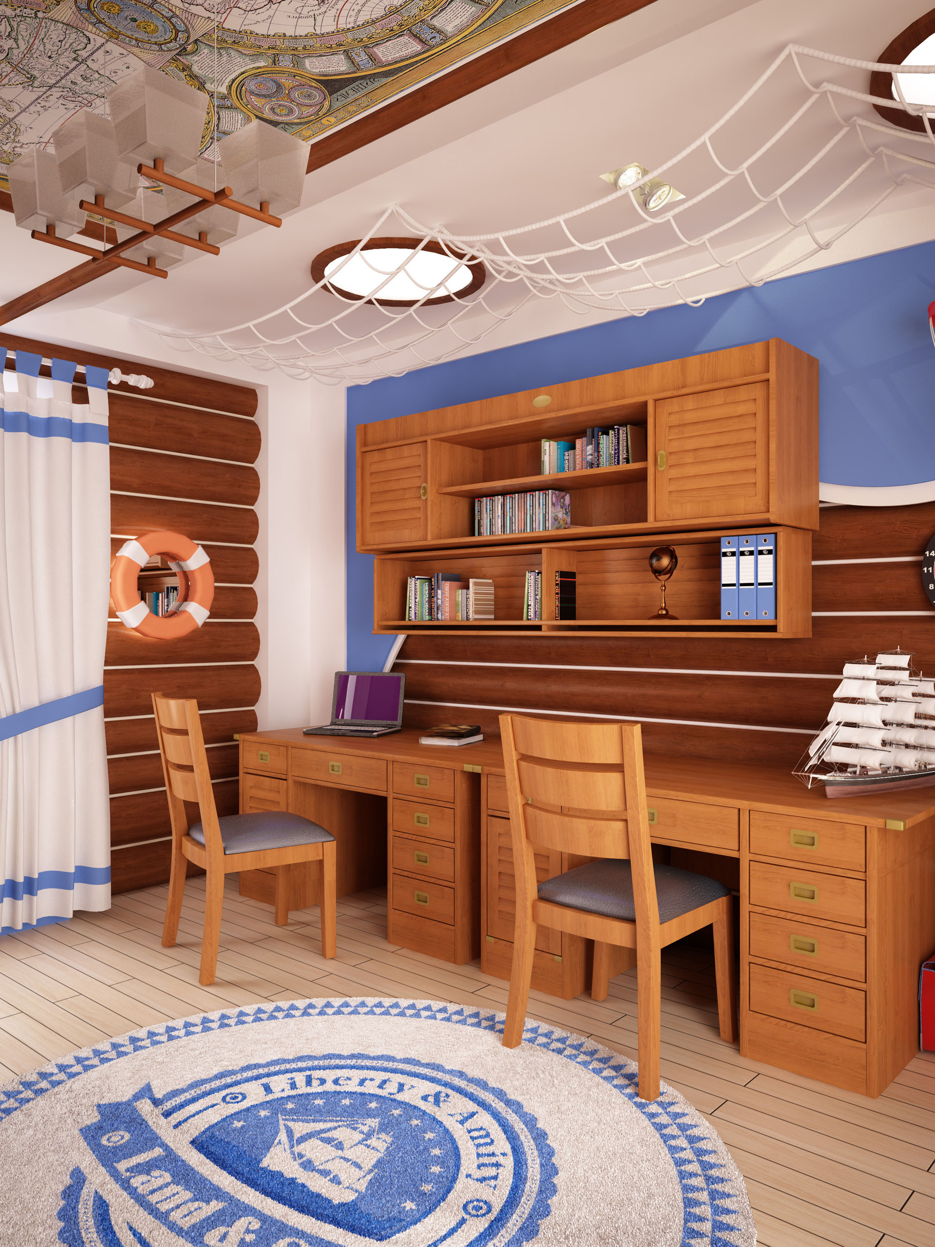 морская комната для старших детей