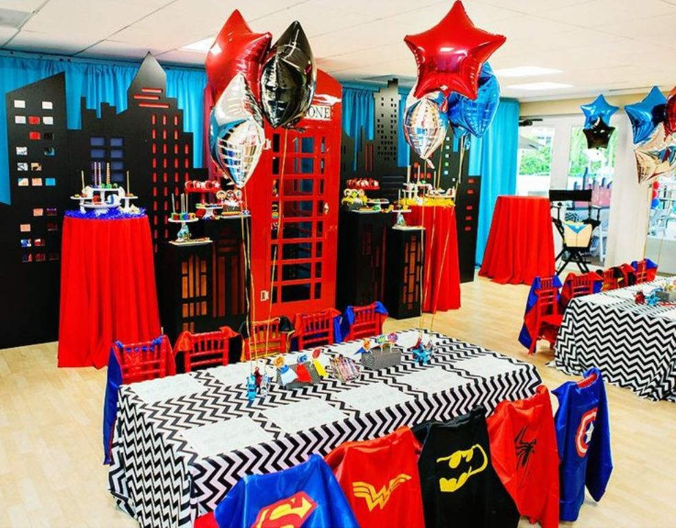 детский праздник в тематике супергерои