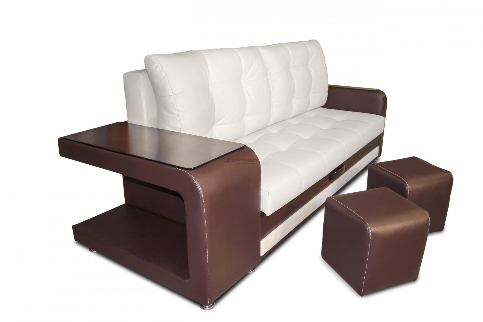 диван с пуфиками