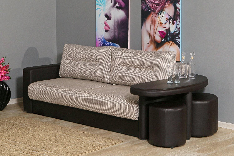 диван со столешницей на подлокотнике