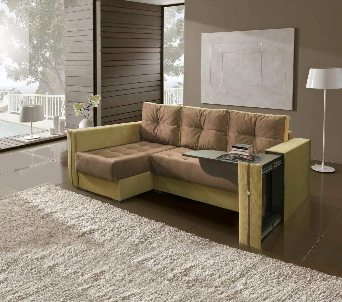 угловой диван-стол