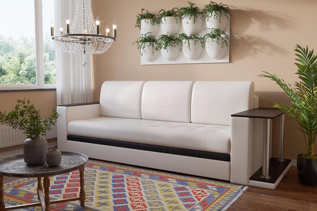 стол возле подлокотника дивана