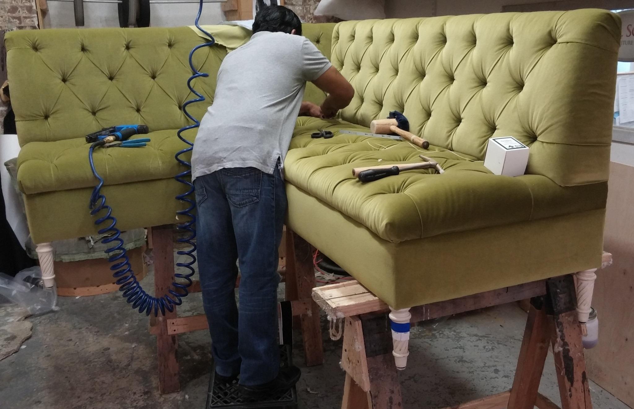 обивку для дивана