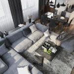 угловой диван оформить