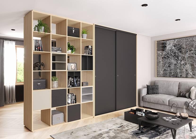 дизайн шкафа-перегородки
