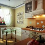 диван светлый угловой на кухне
