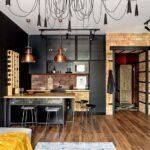 диван с баром на кухне