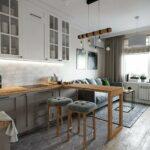 диван за баром на кухне