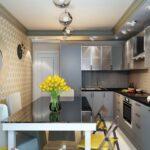 кухня 12 м с цветами