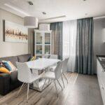 кухня 12 м с диваном и шторами