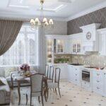 кухня 12 м с диваном белая