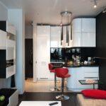 кухня 12 м с диваном и баром