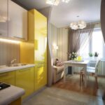 кухня 12 м желтая