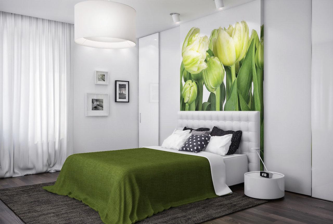 волан фотообои в спальню над кроватью фото приходом весны каждая