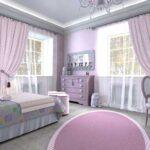 кровать в спальне нежная