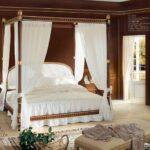 кровать с балдахином белая