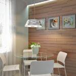 стена возле стола на кухне идеи дизайна