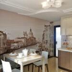 стена возле стола на кухне декор