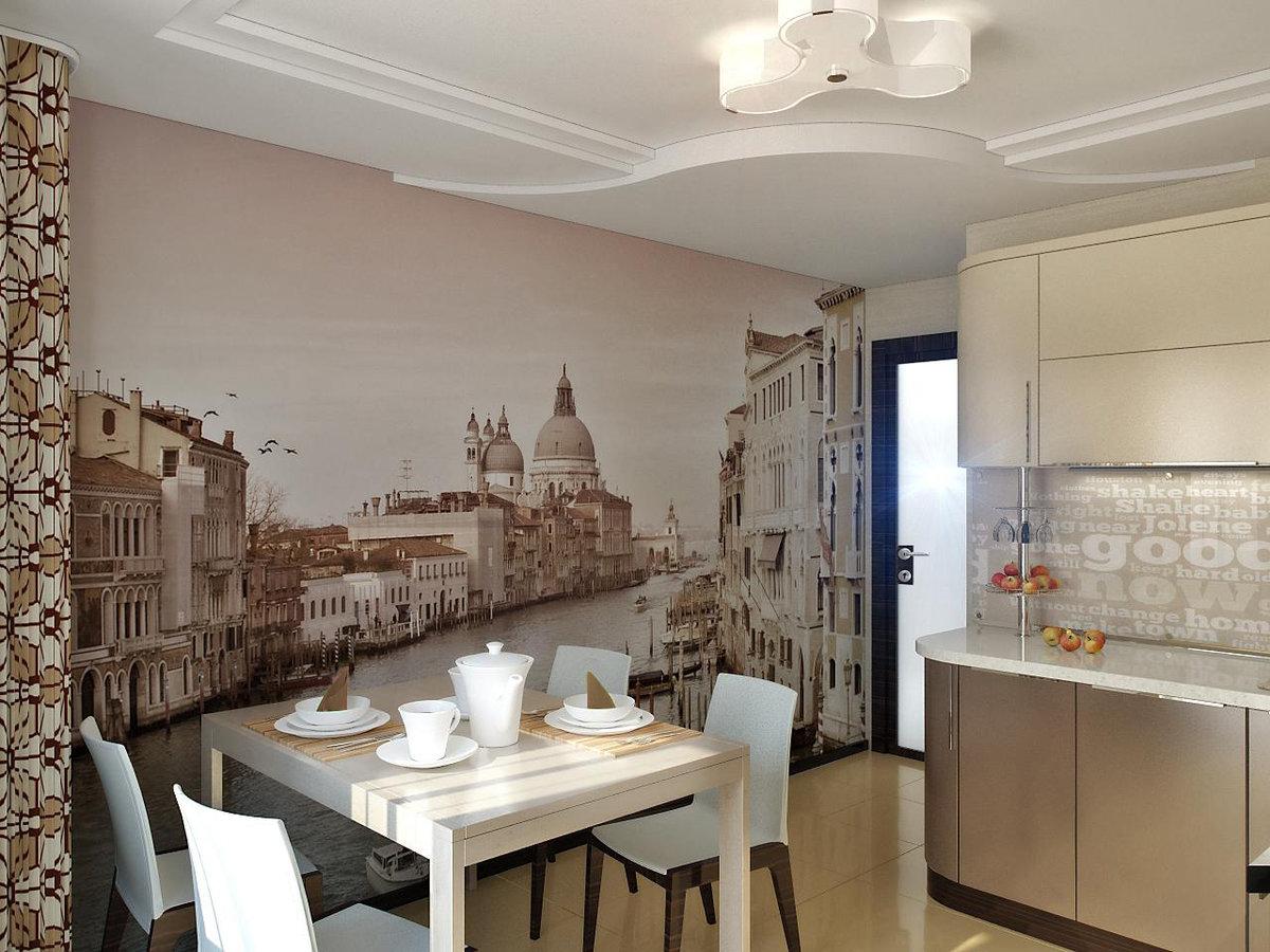 ему виды фотообоев для стен фото на кухню комбинированными фасадами