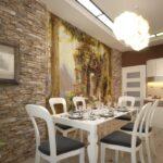 стена возле стола на кухне декор идеи