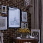 стена возле стола на кухне интерьер