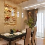 стена возле стола на кухне идеи интерьер