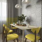 стена возле стола на кухне оформление