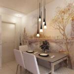 стена возле стола на кухне фото оформления