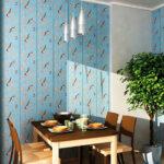 стена возле стола на кухне идеи оформления