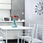 стена возле стола на кухне идеи варианты