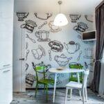стена возле стола на кухне фото виды