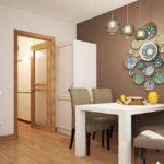стена возле стола на кухне фото интерьер