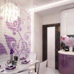 стена возле стола на кухне виды дизайна